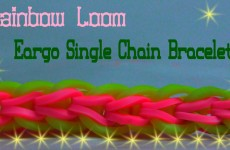 Rainbow Loom Bracelet Tutorial Eargo Single Chain Bracelet Original Design Rainbow Loom
