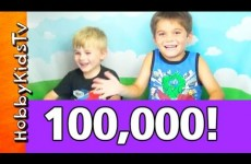 Surprises! 100,000 Subscribers! SuperHeroes, MLP, Hello Kitty HobbyFamily Celebrate by HobbyKidsTV