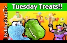 Tuesday Treats Cookie Monster, Mickey Mouse, Toy Story Rex, HobbyKidsTV