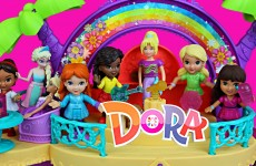 Dora and Friends Frozen Elsa DisneyCarToys Magic Clip Doll And Polly Pocket