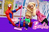 Elsa & Spiderman Babysitter Clean Disney Frozen Castle Barbie Glam Vacuum DisneyCarToys Frozen Kids