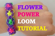 FLOWER POWER (Original Method) Rainbow Loom bracelet Tutorial l JasmineStarler
