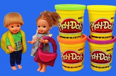 Frozen Dolls Play-Doh DisneyCarToys Frozen Elsa and Anna Kids Playdough Back To School Backpacks