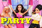 Frozen Elsa, Barbie Princess Vera House Party Spiderman & Mike The Merman DisneyCarToys Barbie Fight