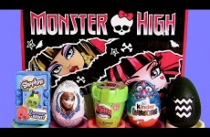 Giant Monster High Blind Bag ♥ Kinder Shopkins Surprise Basket ♥ DisneyFrozen Anna Egg Furby-Boom