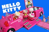 Hello Kitty Toys ❤ DisneyCarToys Dance Party Limo, Bee Rosy Hello Kitty, Cafe Toy Review