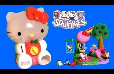 Huge Hello Kitty Squinkies Dispenser ❤ with 8 Exclusive Surprise Toys Inside by Disneycollector