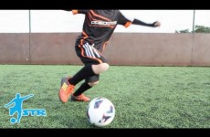 Learn Zidane Fake shot L SHAPE turn – Kids Football soccer skills LittleSTRs STRskilLSchool