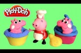 NEW Chef Peppa Pig Cupcake Dough Playset Candy Container Using Play-Doh by Disneycollector