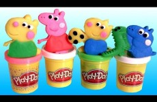 New Play Doh Peppa Pig Space Rocket Dough Playset Review by Disneycollector Toychannel