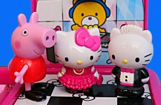 Peppa Pig & Hello Kitty Toys Hello Kitty Toys ❤ Dance Party Limo DisneyCarToys Toys w/ Zoe Zebra