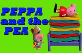 Peppa Pig Princess and The Pea ❤ Play-Doh Peppa Bed and Castle DisneyCarToys Sleepover Video