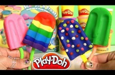 Play Doh Popsicles Scoops 'n Treats DIY Ice Cream Set Playdough Rainbow Popsicle Paleta Ghiacciolo