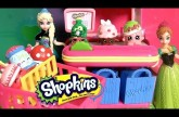 Shopkins Surprise Basket 5-pack with Princess Anna Elsa Disney Frozen at the Supermarket