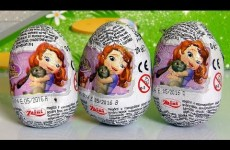 Sofia The First Surprise Eggs Zaini Disney Princess ❤ Huevos-Sorpresa Ovetti di Cioccolato 3D