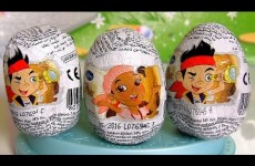 Surprise Eggs Jake and the Neverland Pirates ❤ Captain Hook 3D Ovetti Cioccolato Zaini Huevos
