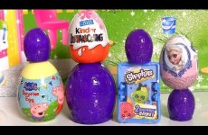 Trash-Pack Eggs Shopkins Surprise Basket Peppa-Pig Kinder Surprise Disney-Frozen Elsa toys