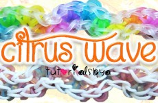 NEW Citrus Wave Rainbow Loom Bracelet Tutorial | How To