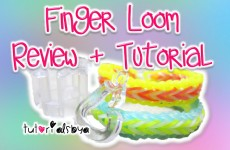 NEW Finger Loom Review + Tutorial | Fishtail & Single Border | Rainbow Loom