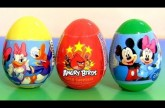 Angry Birds Huevos Sorpresa Mickey Mouse, Minnie Mouse, Donald Duck, Daisy Duck Surprise Eggs
