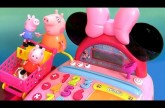 Peppa Shopping in Shopkins Supermarket using Minnie Mouse BowTique Electronic Cash Register
