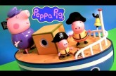 Play Doh Pirate Peppa Pig on Grandpa's Boat Muddy Puddle Bathtime Toys – Barco del Abuelo PlayDough