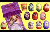 Sofia Christmas Stocking Surprise Eggs SpongeBob Fairies DisneyFrozen Princess Anna PlayDough Tinker
