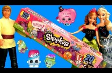 20 Shopkins Mega Pack in Tube NEW 2015 with Disney Frozen Kristoff Elsa & Princess Anna