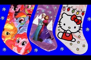 Christmas Stockings Toys Surprise Lalaloopsy MyLittlePony Dsney Frozen MonsterHigh PlayDough Blocks