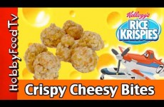 Crispy Crunchy Cheesy Bites! Rice Krispies Dusty Firefighter Disney HobbyFoodTV