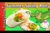 Croc Spring Rollups! SURPRISE Dip + Blooper at End – Veggie Hello Kitty, Croc HobbyMema HobbyFoodTV
