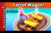 Disney Anna and Olaf Get New Wagons! Carrot Wheels, Peanut Butter by HobbyFoodTV