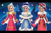 DISNEY Frozen Elsa Storybook Magnetic Wooden Winter Dress-up Doll NEW Wardrobe 2015 Muñeca de madera