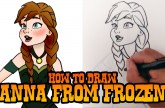 How to Draw Anna from Frozen – Step by Step Video