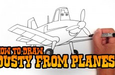 How to Draw Dusty from Planes – Step by Step Video