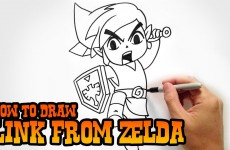 How to Draw Link from Legend of Zelda