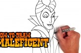 How to Draw Maleficent – Step by Step Video