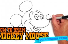 How to Draw Mickey Mouse – Step by Step Video