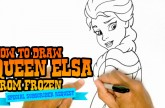 How to Draw Queen Elsa from Frozen – Step by Step Video