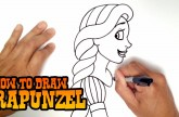 How to Draw Rapunzel – Step by Step Video