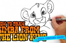 How to Draw Simba from Lion King- Step by Step Video