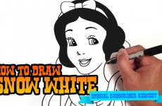 How to Draw Snow White – Step by Step Video