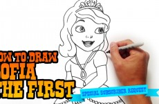 How to Draw Sofia the First – Step by Step Video