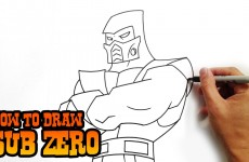 How to Draw Sub Zero- Mortal Kombat