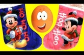 Mickey Minnie Christmas Stocking Surprise Eggs Bubble Guppies Stacking Cups Huevos Sorpresa