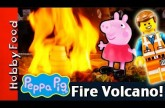 Mickey Mouse, Peppa Pig See FIRE Volcano at Dinner! Eat at Teppanyaki Restaurant by HobbyFoodTV