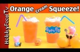 Orange Cream Squeeze! Ice Cream Orange Juice Drink [Peppa Pig] by HobbyFoodTV