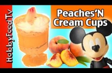 Peaches N' Cream Cups! NO BAKE Instant Peach Cobbler Pie, Minion, Mickey Mouse HobbyFoodTV