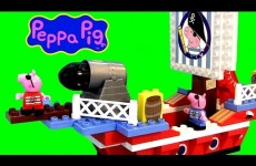 Peppa Pig Pirate Ship Blocks Barco Pirata de George y Peppa Juego de Construcción Nickelodeon