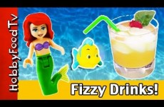 Pineapple Fizzy Bubble Drink! Ariel, Little Mermaid Summer Beverage by HobbyFoodTV